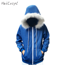 HaiCospl Sans Costume Undertale Cosplay Blue Hoodie Skeleton Brother Coat Men Adult