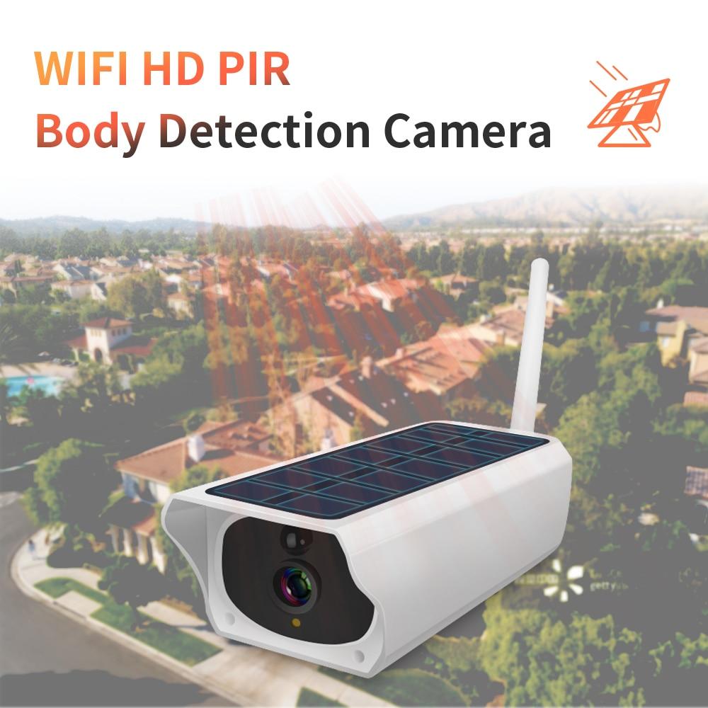 INQMEGA 1080 p HD Câmeras de Vigilância À Prova D' Água Câmera de Segurança Ao Ar Livre Solar Da Carga Da Bateria WIFI Câmeras Áudio PIR Movimento