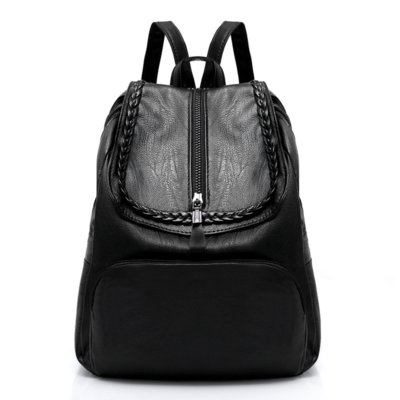 2018 New Spring Fashion Travel Bags Female PU Fan Bingbing The same paragraph Europe and the United States Backpack
