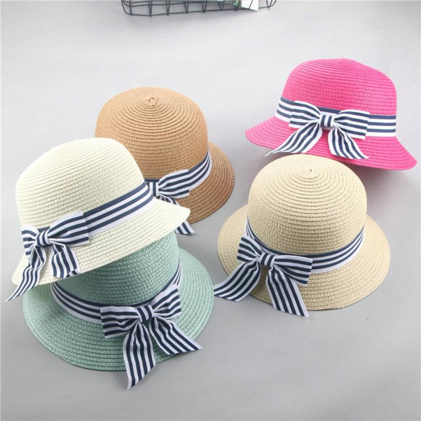 NewSummer Hat Cap Children Breathable Hat Straw Hat Kids Boy Girls Hats  Outdoor Beach Sunhat Suit 634b0875b035
