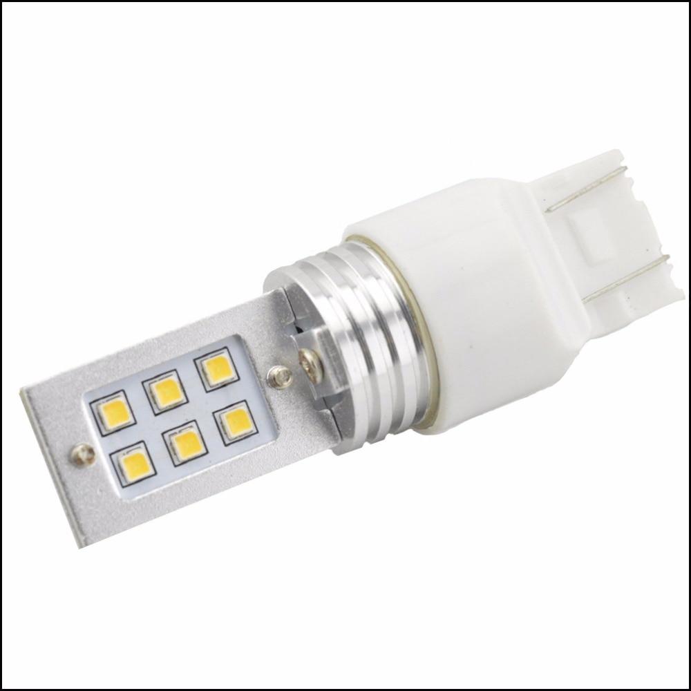 Ruiandsion 1pcs T20 7443 12 SMD 3030 LED High Power Turn Signals car brake Lights Source parking Blubs White