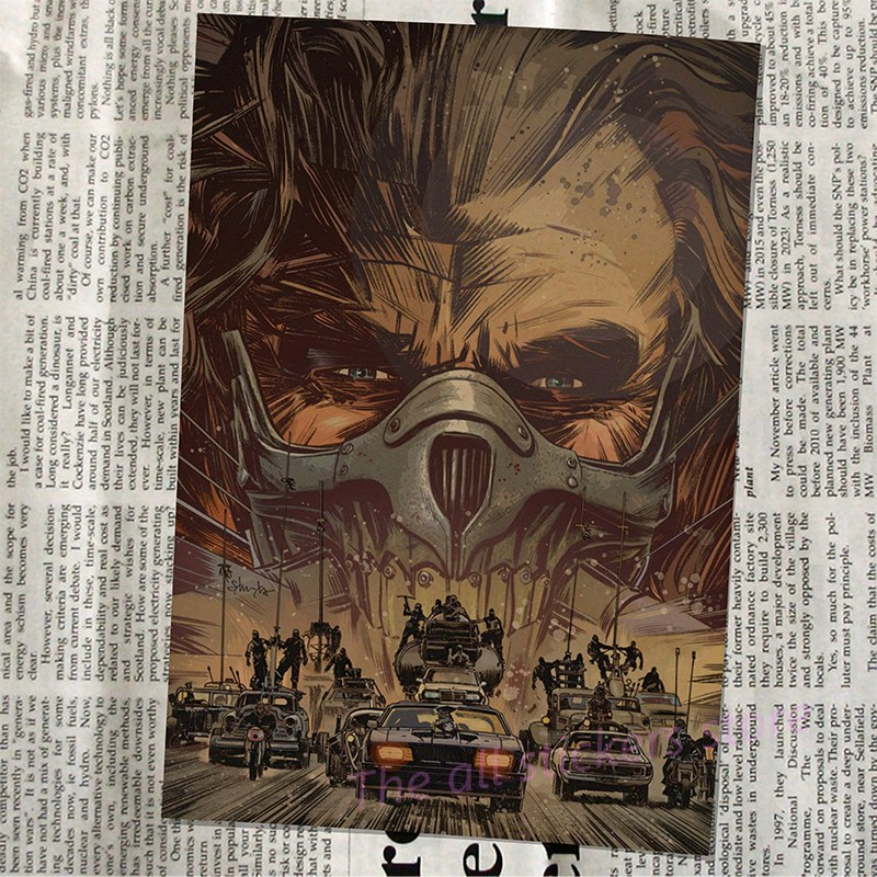 Vintage Poster Mad max Fury road Tom Hardy Charlize Theron Movie ...