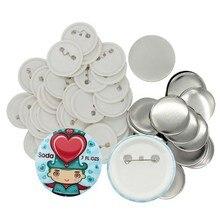 Hot sales 32mm tin button badge material 500pcs with safe pin