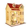 Miniatura de Móveis Casa de Bonecas artesanais Diy Casas de Boneca Em Miniatura Casa De Bonecas De Madeira Unisex 3d Brinquedos Para Presente Das Crianças Craft A010