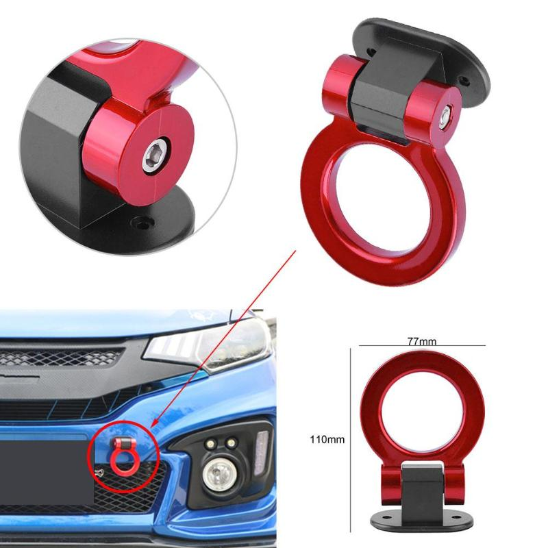 1Pcs Automotive Car Stickers ABS Metal Tow Hook Car Auto Trailer Decorative Tow Hook Universal for Truck SUV Front Bumper New injora 4pcs red metal bumper d ring tow