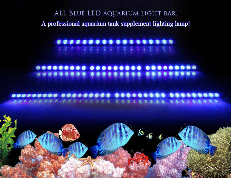 Populargrow 54W/81W/108W Led Aquarium bar Licht nur 470nm blau spektrum schöne ihre korallen riff aquarium lampe