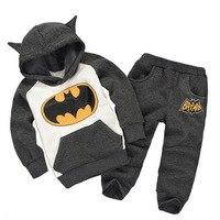 Children Batman Set Baby Boys Clothing Set Children Hoodies Pants Thicken Winter Warm Clothes Boys Girls