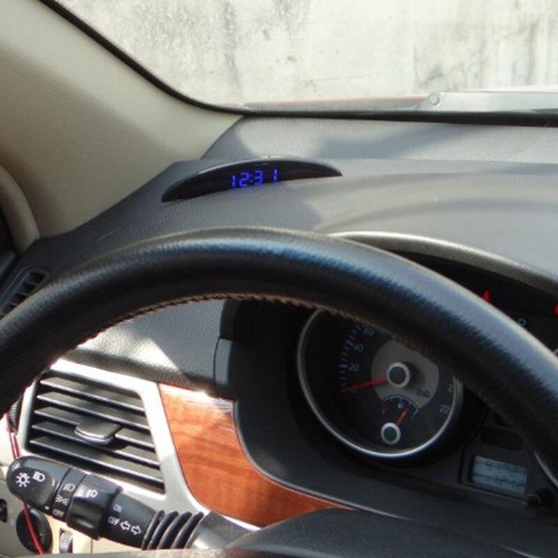 Car Luminous Led Digital Auto Clock Thermometer Voltmeter For