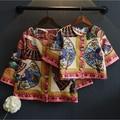 Семьи сопоставления одежда мать дочь цветы печати куртки и пальто 2016 семья взгляд пиджаки мода
