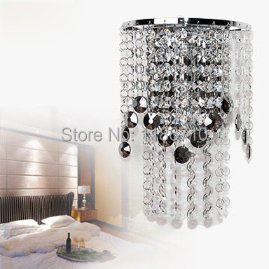 Crystal wall lamp wall lamp contemporary and contracted bedroom wall lamp of the head of a bed free shipping