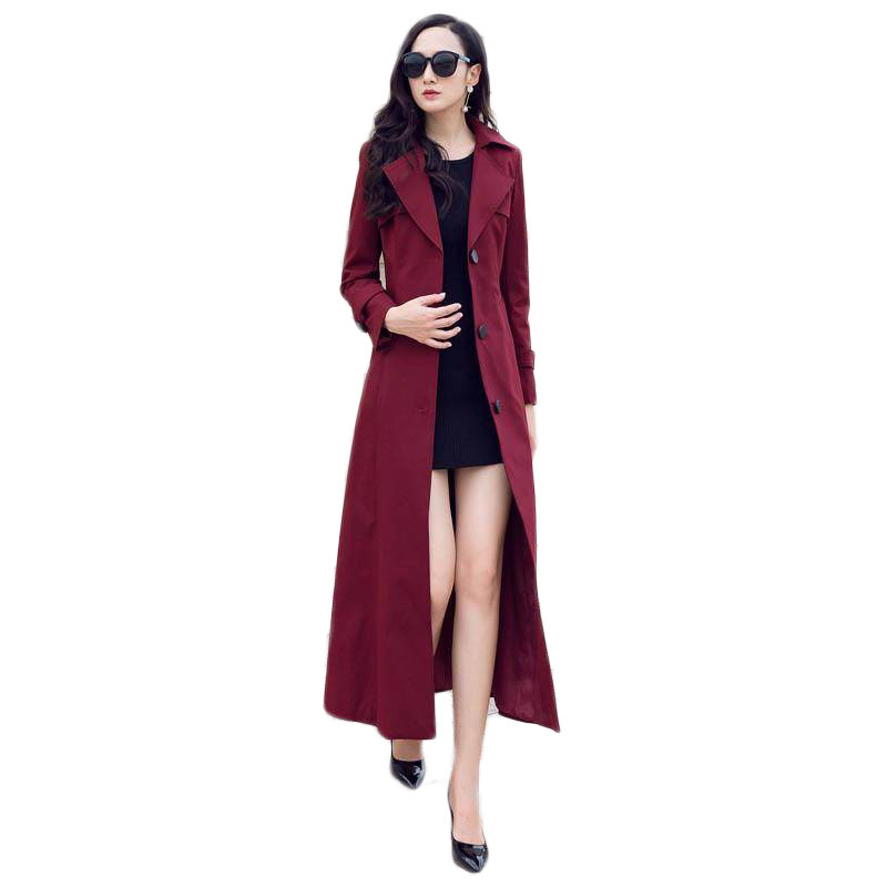 2019 New Arrival Fashion Women Comfortable Solid Long Coat Good Quality Korean Temperament Outerwear Ladies Holiday   Trench   M158