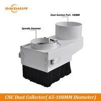 Daedalus cnc coletor de poeira diâmetro 65mm 80mm 85mm 100mm máquina de trituração capa poeira escova carpintaria ferramenta limpeza do roteador|Peças p/ máquinas de trabalho em madeira| |  -