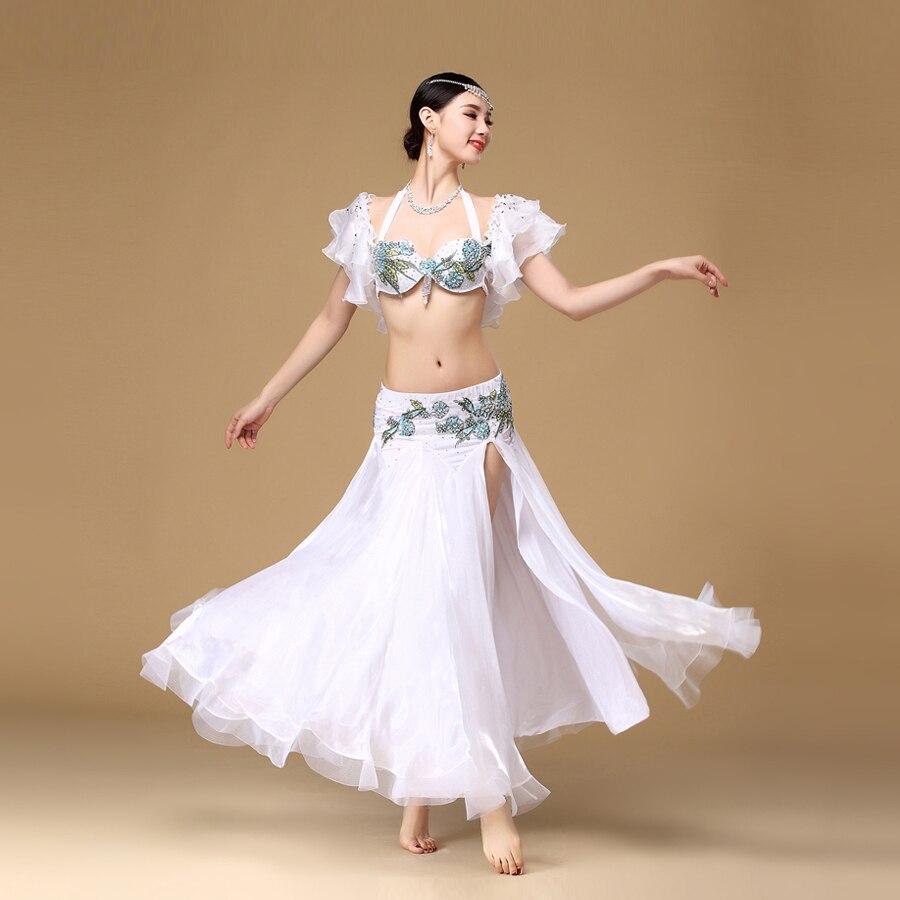 2018 New Belly Dance kostum Set Bra Top pas krilo obleko Rio Carnival - Odrska in plesna oblačila