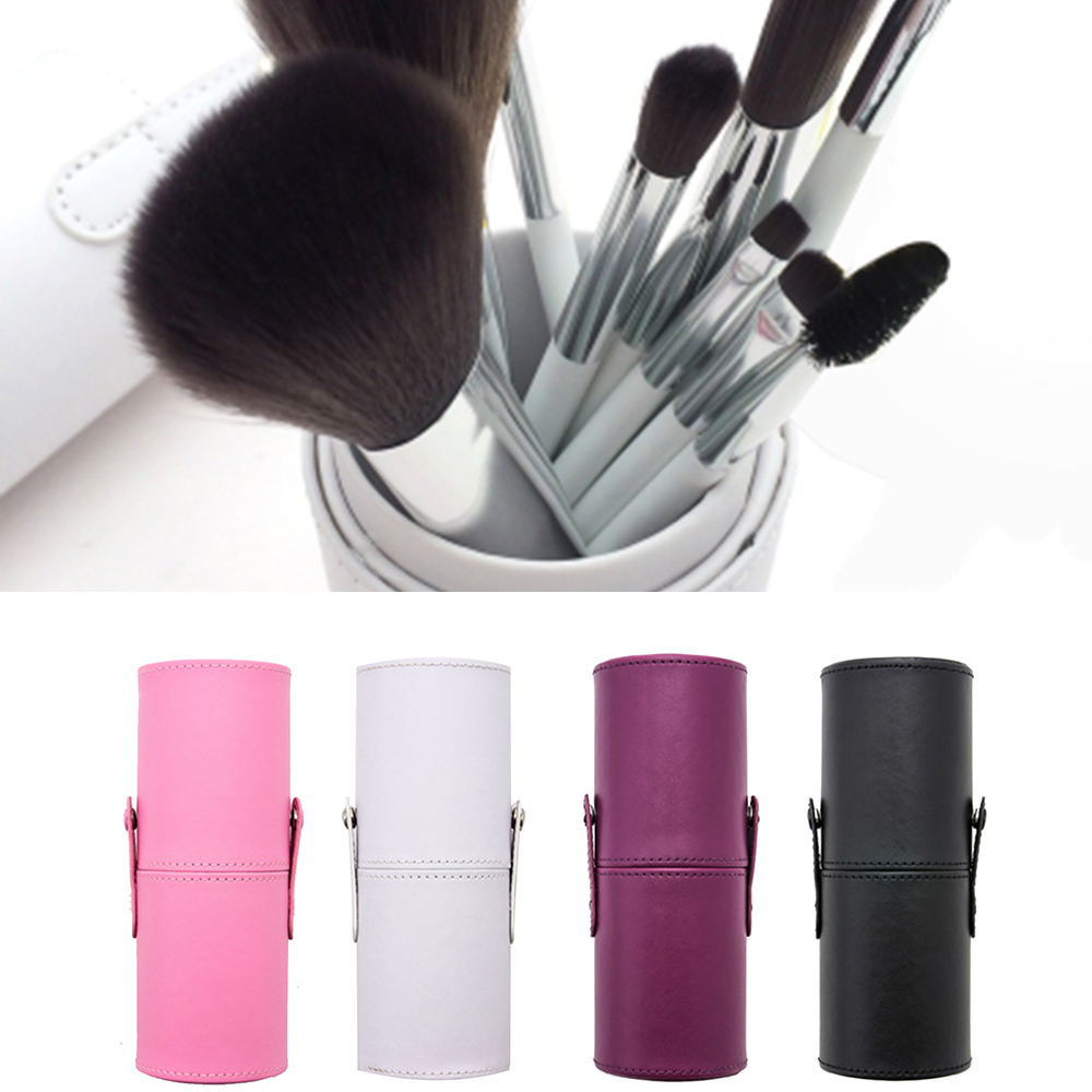 Portable PU Makeup Brush Organizers Box Travel Cosmetic Beauty Pen Lipstick Holder Bathroom Makeup Storage Bucket Accessories in Eye Shadow Applicator from Beauty Health