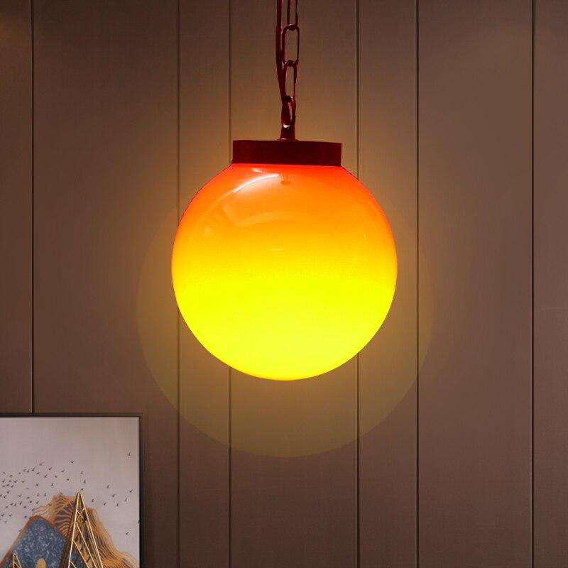Modern indoor E27 balloon lamp pendant round chain chandelier living room cafe restaurant bedroom children light