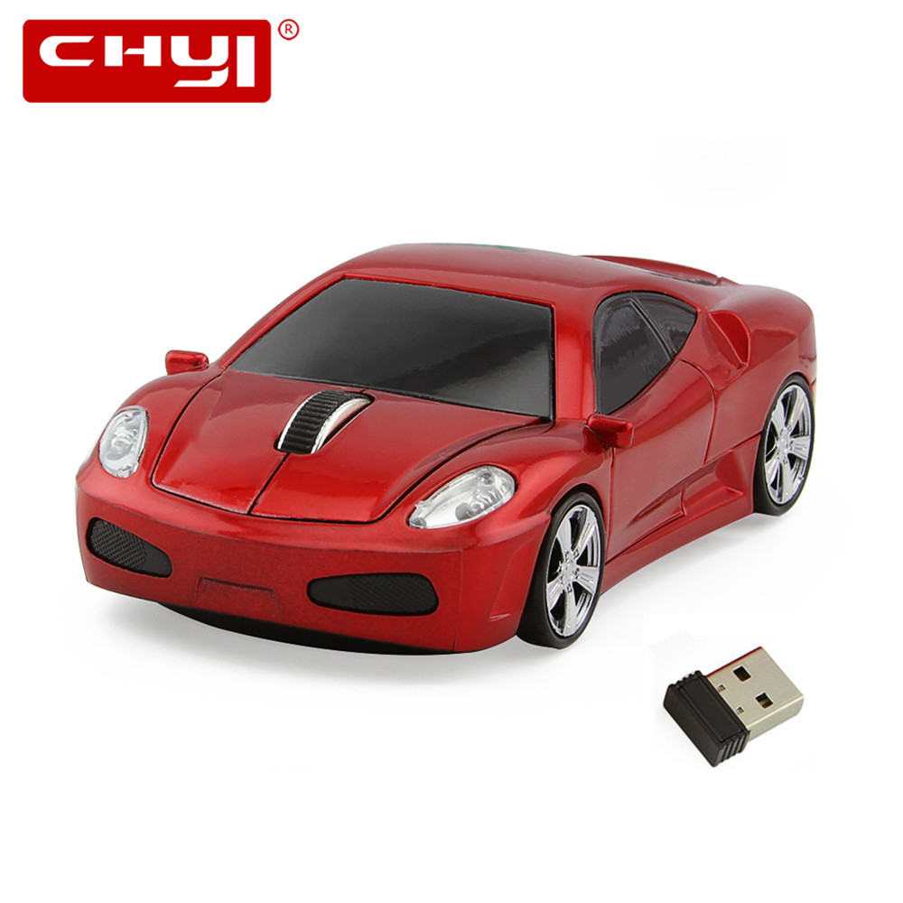 Sports Car Shaped 2.4GHz Wireless Mouse 1600DPI Optical Gaming Mouse Game Mice for Computer PC
