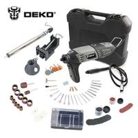 DEKO GJ201 220V 170W LCD Variable Speed Rotary Tool Dremel Style Electric Mini Drill W Flexible
