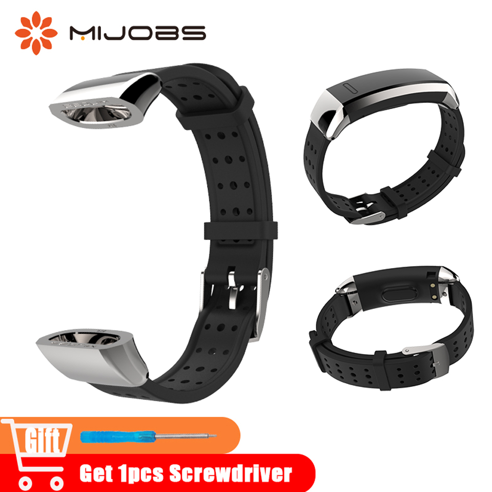 Mijobs Sports Wrist Strap For Huawei Band 2 Pro B19 B29 Wristband Bracelet Silicone Replace For Huawei Band 2 Smart Watch Strap