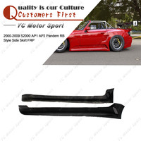 Car Accessories FRP Fiber Glass Side Skirts Fit For 2000 2009 S2000 AP1 AP2 PD RB Style Body Kit Side Skirt Cover