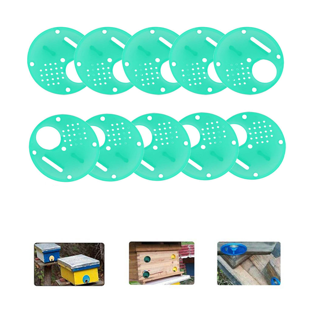 Image 2 - beekeeping supplies 20pc Plastic Bee Nest Door / Entrance Disc / Bee Hive Nuc Box Entrance Gate Tool Equipconvenient  product-in Beekeeping Tools from Home & Garden