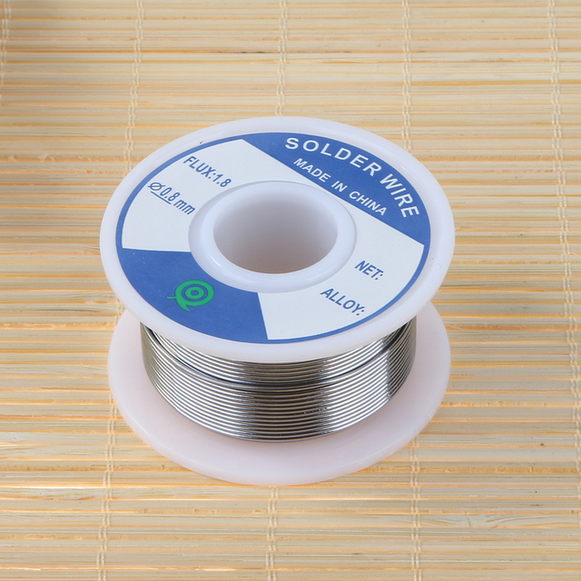 Lead-Free Tin Silver Solder Wire Flux 1.8 3% Silver 0.8mm Speaker DIY Material Solder Soldering Wire Roll 3
