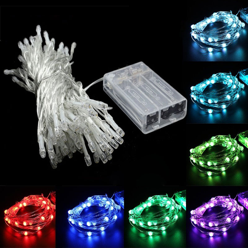 LED String Lights 5M Christmas Wedding Home Party Decoration Fairy Garden garland Battery Indoor Outdoor Holiday Lighting