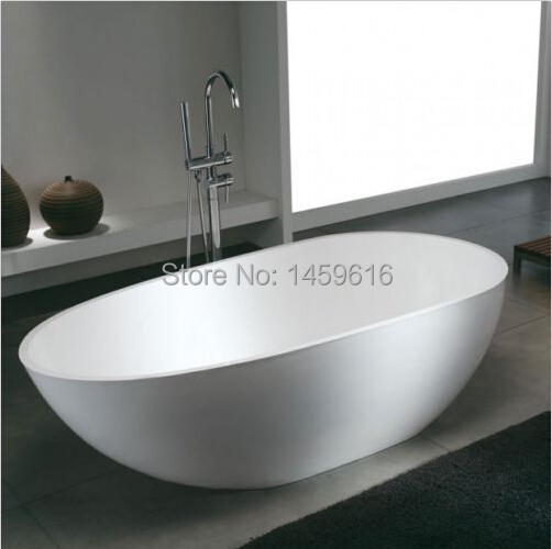 Badezimmerarmaturen 1780x980x510mm Kostenloser Versand Oval Stein Feste OberflÄche Badewanne Stein Badewanne 1006-6550