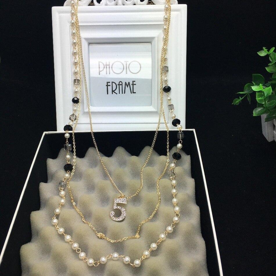 79d6813d23b5 XL20 joyería famosa marca collar flores de perlas collar collier femme  perle collar collares largos accesorios de mujer en Collares de cadena de  Joyería y ...