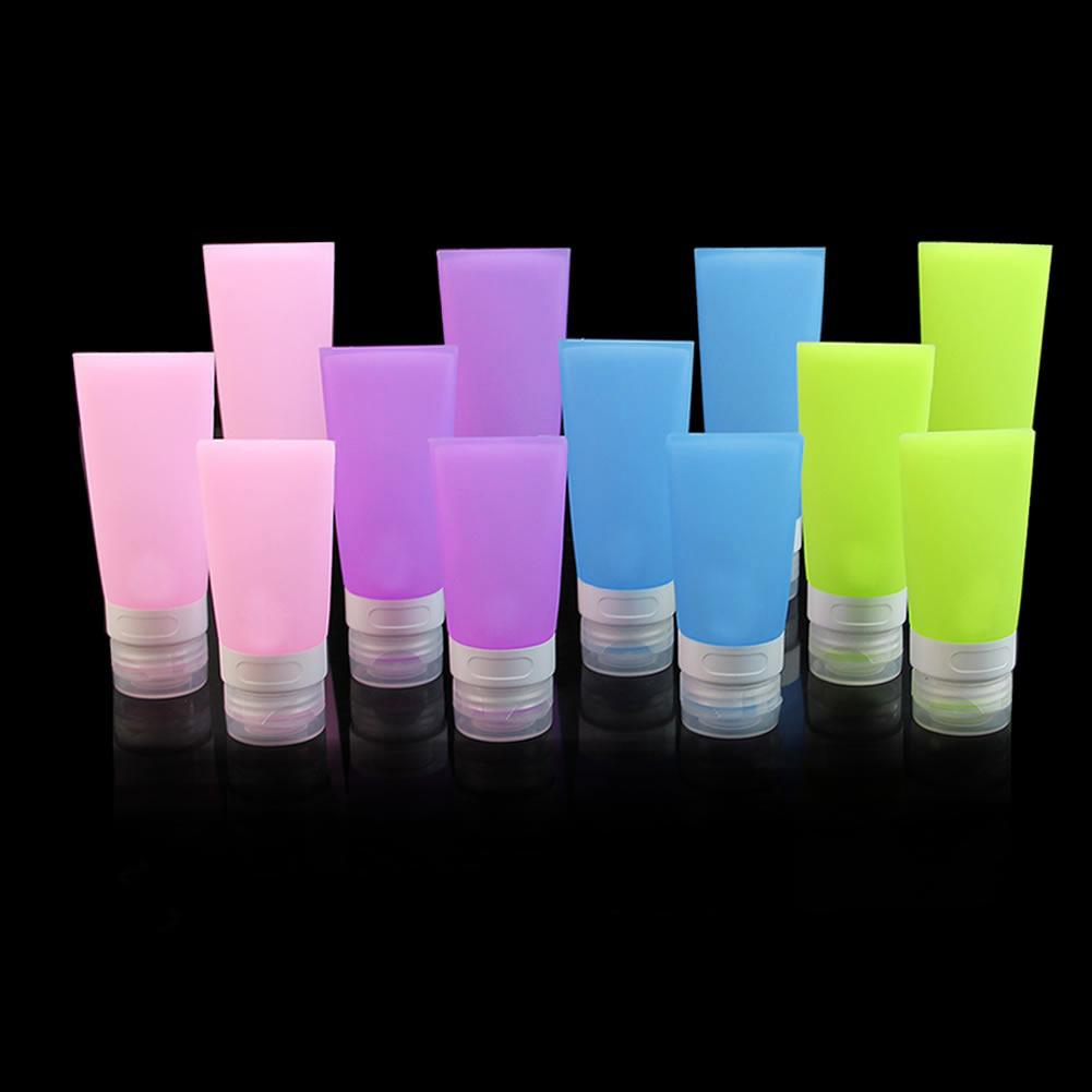 38ml/60ml/80ml Empty Silicone Travel Bottle Lotion Shampoo Cosmetic Tube Container Portable Hot