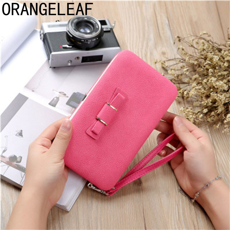 Pocket Luxury Wallets Women Brand Lady Purses For Leather Clutch Long Hasp Woman Wallet Female Purse Card Holder Gift