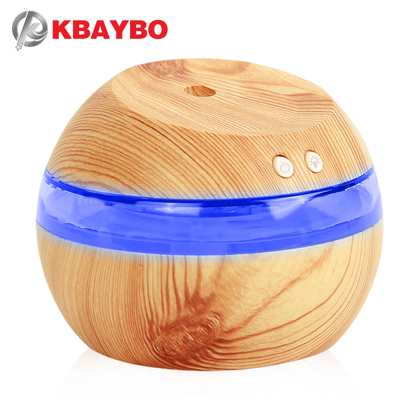 290 Mini Blue Backlight Humidifier Ultrasonic Humidifier Air Aroma Diffuser Mist Maker Essential Oil diffuser of Home and Car
