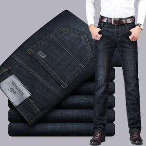 Image 2 - Icpansデニムジーンズ男性カジュアルクラシックベーシックデニムストレートブラックジーンズ男性ビジネスパンツジーンズ男性レギュラーフィットビッグサイズ40