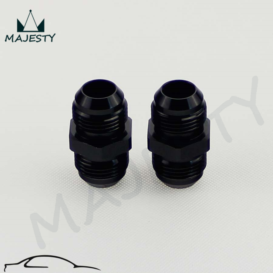 Aluminum Straight AN12 To AN12 Male Flare Union Fitting Adapter Black