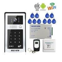 FREE SHIPPING RFID Code Keypad Wifi 720P Video Door Phone Intercom Waterproof IR Metal Doorbell For