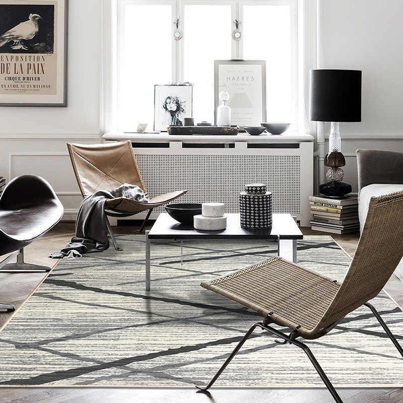Alfombras blandas nórdicas para sala de estar alfombras de dormitorio alfombra de Casa alfombra de piso alfombra de sala de estar alfombras de gran Color de Hotel alfombra de área