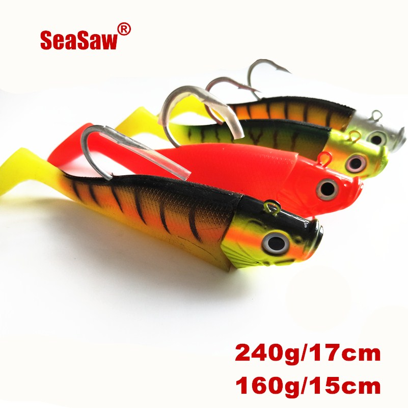 US $12 9 |jigging fishing lures sea fishing lure jigs lead head rubber body  lead jig -in Fishing Lures from Sports & Entertainment on Aliexpress com |