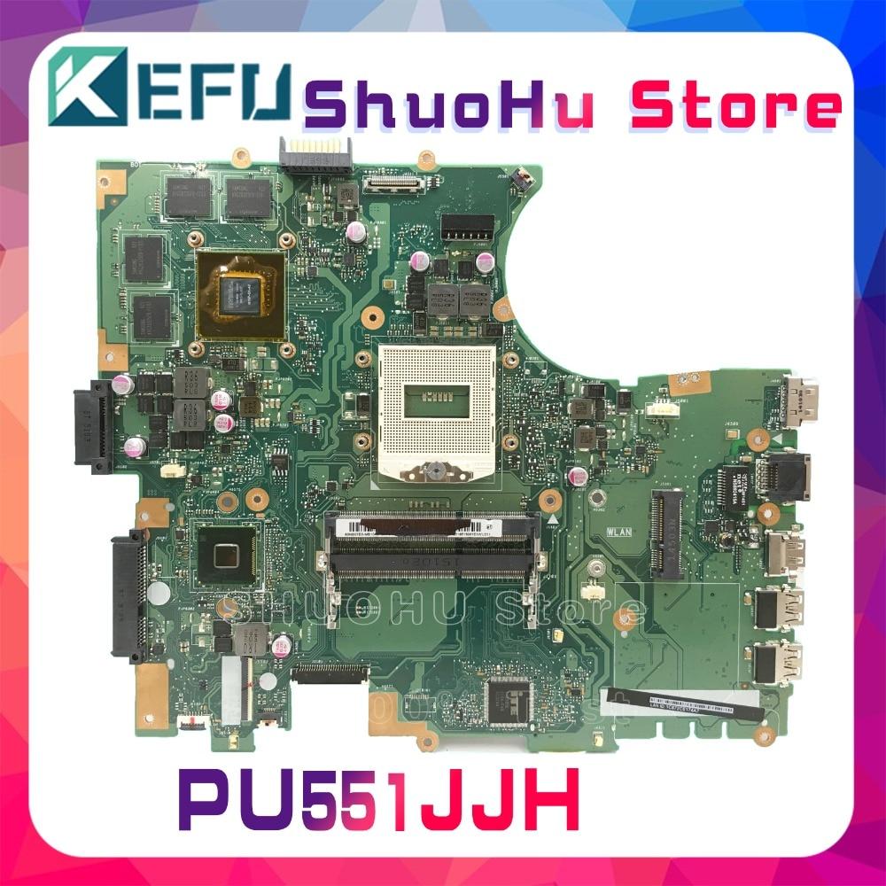 все цены на KEFU For ASUS PU551J PU551JH laptop motherboard tested 100% work original mainboard онлайн