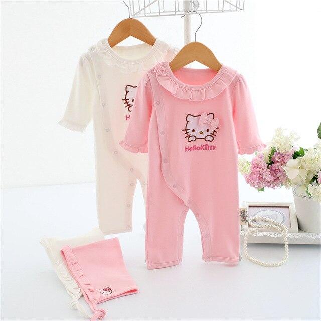 3ddbbd33fc5 Baby newborn romper baby girl gap 100% cotton romper with hat pink white