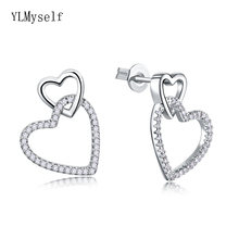 Милые/Романтические Подарочные серьги белые кристаллы Прекрасные