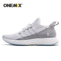ONEMIX Men Vulcanize Shoes 2019 Breathable Knitted Mesh Reflective Ultra Boosts Running Sneakers Women Tennis Training Footwear