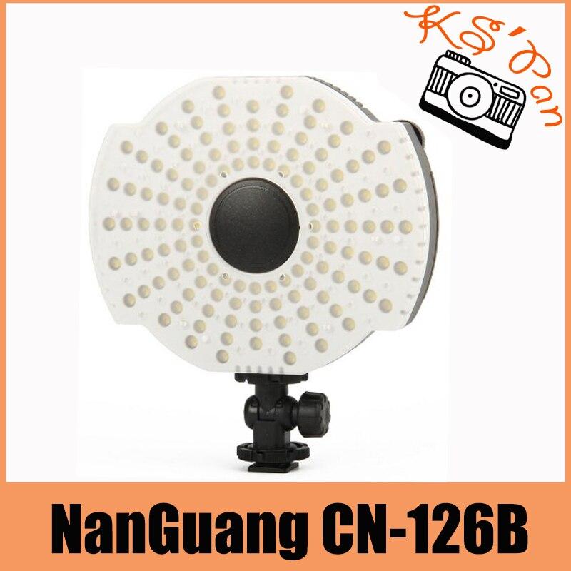 NanGuang CN-126B LED Video Camera Microphone Mount Lamp Light with Filters 3200K/5400K цена и фото