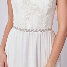Rhinestone Sash Bridal Belt Bow ribbon Ivory or White Satin Flower Girl Bridesmai Wedding