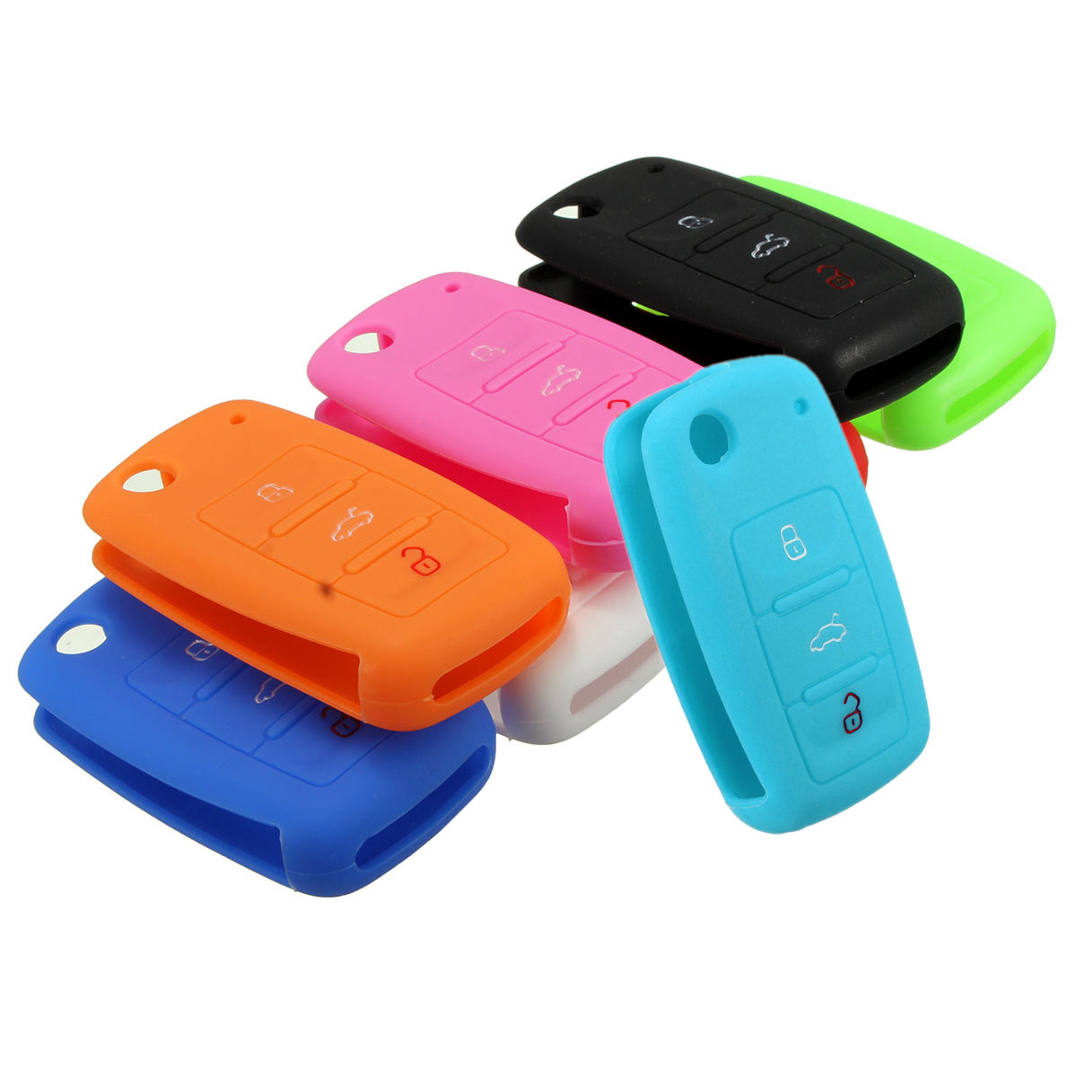 Silicone 3 Button Remote Key Cover Shell for VW/MK6/Golf/Jetta/Passat/Beetle autoprofi органайзер в багажник travel ковролиновый 50х13х20см чёрный 1 24