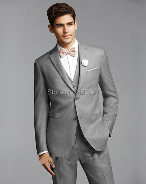 2016 Western style Gray Color Men Business Suits For Men\'s Wedding ...
