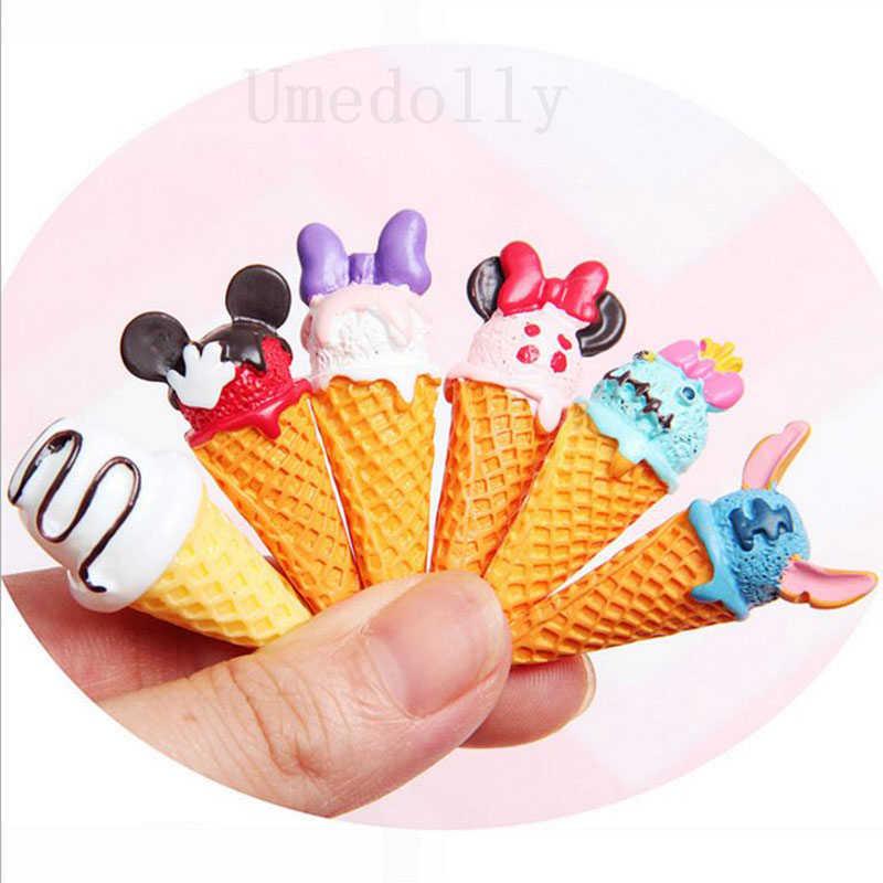 2 PCS Mini การ์ตูนไอศกรีมอาหารอุปกรณ์เสริมสำหรับ 1/6 Blyth Barbies BJD ขนาดเล็กตุ๊กตาของเล่นอุปกรณ์เสริม