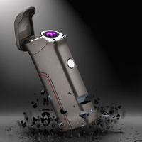 New plasma metal double arc USB charging replaceable electric lighter windproof electronic lighter pulse cigarette cigar
