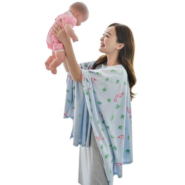 e93cb0d7c7b0c Big Cotton Breastfeeding Nursing Covers Baby Car Seat Canopy Cover Nursing  Scarf Cover Up Apron Nursing Cape Shawl Hood Coat