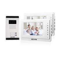 FREE SHIPPING New 7 Video Intercom Apartment Door Phone System 2 White Monitor 1 HD Camera