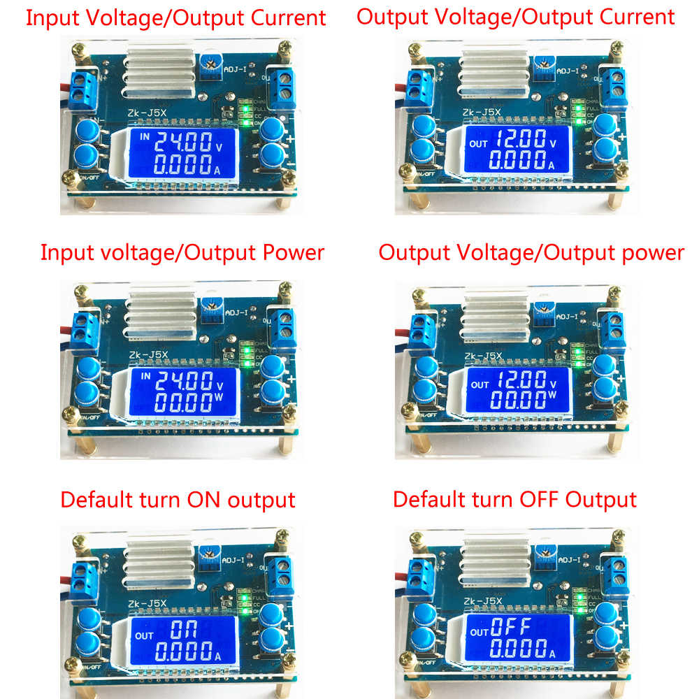 5A DC-DC Buck Constant Voltage Current Step Down Power Supply Module w// LCD Case