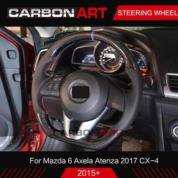 Pour Mazda 6 Axela Atenza 2017 CX-4 en Fiber de carbone volant universel de remplacement pour mazdaCarbon accessoires volant